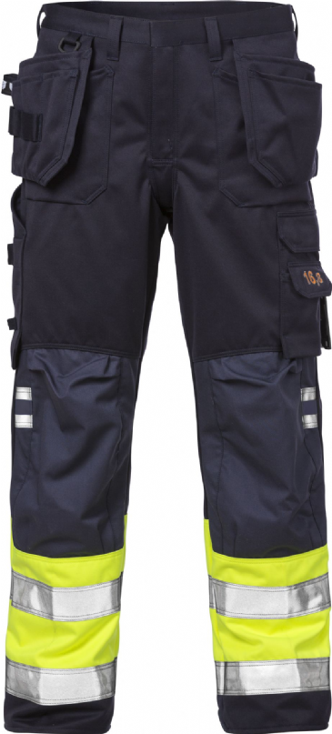 Fristads Flame High Vis Craftsman Trousers CL 1 2094 ATHP (Hi Vis Yellow/Navy)